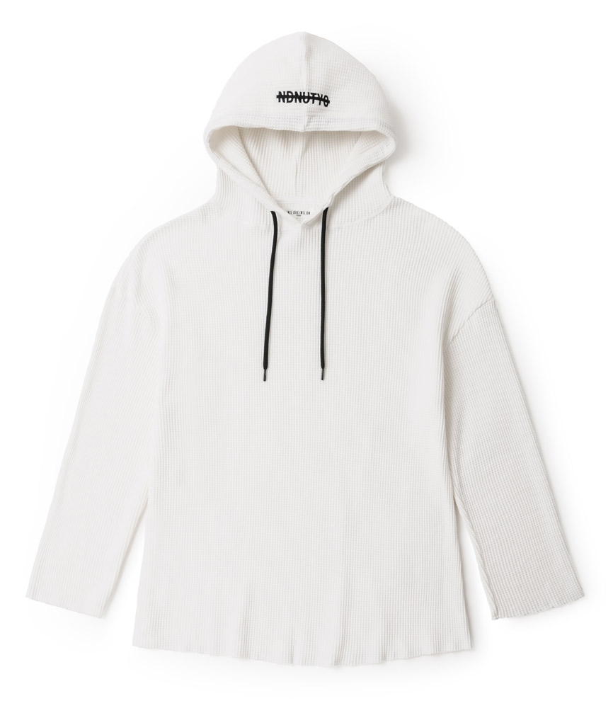 PULLOVER WAFFLE HOODIE / WH
