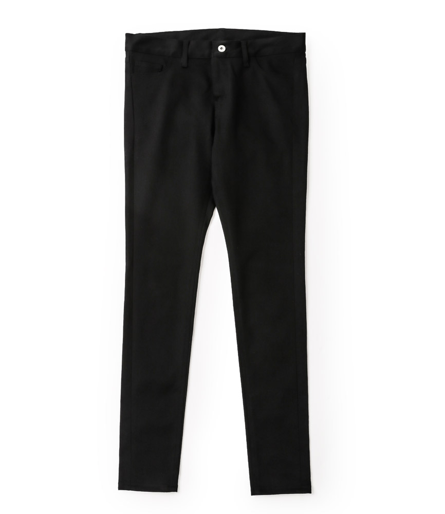 LEATHER TAG SKINNY PANTS